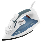 Sunbeam GreenSense SteamMaster Full Size Professional Iron with ClearView, White and Blue