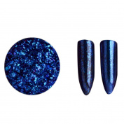 Glorrt Women Glitter Aluminium Flakes Magic Mirror Effect Powders Sequins Nail