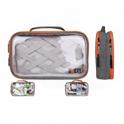 BUBM Waterproof Portable Travel Packing Organiser for Electronic Accessories, Bathroom Storage, Women Makeup Bag and Men