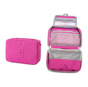 Travel Toiletry Bags Pamty Hanging Toiletry Kit Cosmetic Makeup Bag Travel Hanging Organiser Kit Fashion Women Jewellery Organiser with YKK Zipper Carry Case for Women Ladies Men Rose Red
