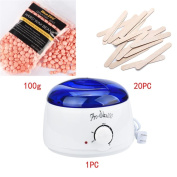 Sympath Hair Removal Bean Wiping Sticks Hot Wax Warmer Heater Pot Depilatory Set