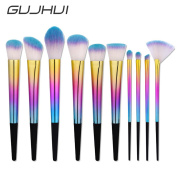 Owill 10Pcs Blending Foundation Powder Chromatic Makeup Brushes/Keep Your Skin Shiny