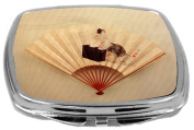 Rikki Knight Compact Mirror, Katsushika Hokusai Art Young Lady, 90ml