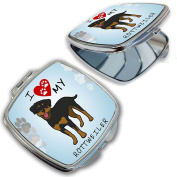 BleuReign(TM) I Love My Rottweiler Dog Lover Compact Mirror