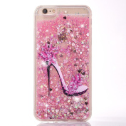 Sunvy iPhone 6/6s 12cm Glitter Case,i6 Liquid Case High Heel Printed Printed Moving Bling Floating Cover for iPhone 6/6s with a Screen Protector