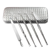 Wqueen 5PCS Remover Pimple Acne Needles Extractor Tool Kit