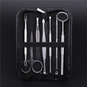 Wqueen 7pcs Stainless Steel Blackhead Pimple Blemish Extractor Acne Remover Tool Set