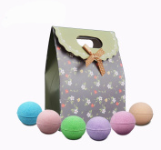 6 Vegan Bath Bombs gift set-Ultra Lush Handmade Essential Oil Spa Bomb Fizzies Kit,Organic and Natural Ingredients, Shea Butter for Moisturising Dry Skin