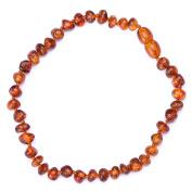 "Cognac Amber Bracelet for Women From Genuine Baltic Amber - From ""Vintage Amber TM"""