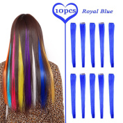 MSHAIR Straight Coloured Party Highlight Clip in Hair Extensions Multiple Colours 60cm 10 Pieces/lot