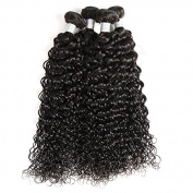Suerkeep 7A Unprocessed Brazilian virgin Water Wave Hair one bundle Natural Black weave Remy Human Hair water wave bundles Extensions
