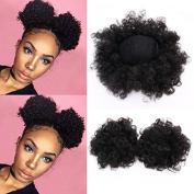 Miss Rola Synthetic Hair Bun Extension Donut Chignon Hair Hairpieces Wig Updo Hair Bun,Clip In Hair Extensions,Afro Kinky Curly For African American Black Women