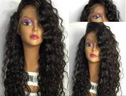 RHAH Kinky Curly Brazilian Virgin Glueless Lace Front Human Hair Wigs 150% density for Black Women