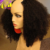 RJ HAIR 180% Density Afro Kinky Curly U Part Wig Human Hair Virgin Mongolian Remy Human Hair Upart Wigs Kinky Curls Middle U Shaped Wig
