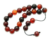 A2-0136- Loose String Greek Komboloi Prayer Beads 10mm Natural Agate Gemstone Beads by Jeannieparnell