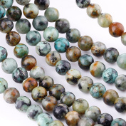 "Bingcute 8mm Natural African Turquoise Stone Beads for Necklace Gemstone Loose Beads 15.5""One String"