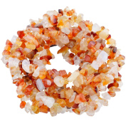 SUNYIK Carnelian Tumbled Chip Stone Irregular Shaped Drilled Loose Beads Strand for Jewellery Making 90cm