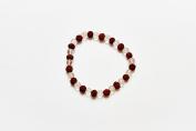 Siddha 7 Stone Chakra Crystal Quartz-Multicoloured/Clear- Healing Bracelets, Reiki, Spirituality, Meditation, Religion, Power