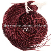 1MM(DM) (50 Yard/Packet) Bullion/Nakshi Metallic French Wire in Dark Red Colour
