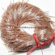 1MM(DM) (50 Yard/Packet) Bullion/Nakshi Metallic French Wire in Rose Gold Colour