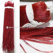 1MM(DM) (50 Yard/Packet) Bullion/Nakshi Metallic French Wire in Pompeian Red Colour