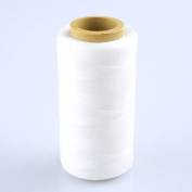240 Metres 1mm 150D Leather Waxed Thread Cord for DIY Handicraft Tool Hand Stitching Thread White