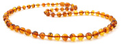 Baltic Amber Necklace for Adults - Size 19.5 inches (50 cm) - Suitable for Women and Men - Polished Cognac Amber Beads - BoutiqueAmber