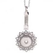 Lovmoment Pendant Necklace with 45CM Chain Fit 18MM Chunks Snaps Jewellery