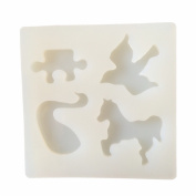 Horse,Pigeon,Swan Pendant Clay Silicone Mould, Crafting, Resin Epoxy, Jewellery Earrings Making, DIY Mobile Phone Decoration Tools,Semi-Transparent