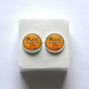 Halloween Jewellery Earrings - Magic always comes with a Price Dearie -Literature Earrings, Inspirational Jewellery,Inspiring Jewellery Earrings