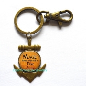 Magic always comes with a price Anchor Keychain- Book Lover Jewellery - Bookworm Anchor Keychain- Reading Quote Anchor Keychain