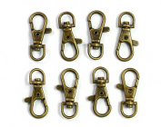 ALL in ONE Lobster Claw Swivel Clasps Lobster Snap Clasp Hook for Key Ring DIY Craft Jewellery Making 2.5cm - 1.3cm x 1.6cm