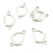 Price per 260 Pieces Antique Silver Tone Jewellery Making Charms Supply B9RO1 Ring Connector