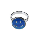 Enking Smiley Face Adjustable Colour Changing Mood Ring Emotion Feeling Ring UK Size