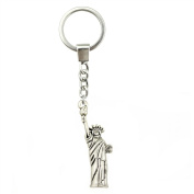 NEWME 1 PCS New Fashion Man Vintage Statue of Liberty Charms Pendant Handmade Jewellery Keychain Key Ring Chain DIY Car Key Accessories Findings