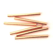 Imagine If...6 pieces Copper Tube 2x30mm Round Bright Cut Design Finding Bead