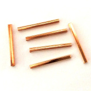 Imagine If...6 pieces Copper Tube 2x25mm Rectangle Bright Finding Bead