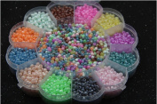 Lingduan Pieces Of Bulk Plastic Rainbow Opaque Mixed Colour Pony Beads Handmade Diy 4mm Candy Beads Jewellery Beads (Box packing)