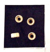 4 pcs 14k Gold Filled Rondell Corrugated 3x5mm / Findings / Yellow Gold Roundel