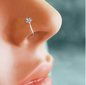 Dmeiling Small Flower Crystal Nose Ring Hoop-Sparkly Crystal Nose Ring Sparkly Jewellery Accessories