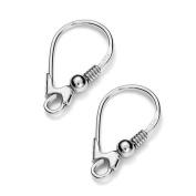My-Bead 1 pair earrings leverback hooks 18mm 925 sterling silver nickel-free findings DIY