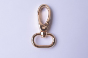 Wento 10pcs Alloy Gold purses clasps,straps hooks purse clasps bag hooks shoulder bag clasps,Lobster clasp for bag making WTC001
