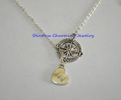 Compass necklace,friend necklace, sister necklace, gift for friend,Dad Jewellery, fathers day gift ,Dad gift,handmade necklace