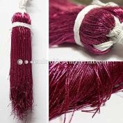 1MM(DM) (50 Yard/Packet) Bullion/Nakshi Metallic French Wire in Festival Fuchsia Colour
