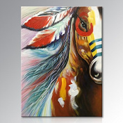 Winpeak Art Hand Painted Canvas Wall Art Abstract Horse Oil painting Modern Contemporary Decorative Artwork Framed Ready to Hang