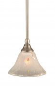 Toltec Lighting 23-BN-751 Stem Mini-Pendant Light Brushed Nickel Finish with Frosted Crystal Glass, 18cm