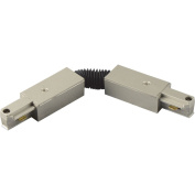 Progress Lighting P8736-09 Flex Connector Permits A Variety Of Track Layouts, Brushed Nickel