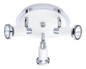 Eglo 200098A Eridan Track Light, Chrome/White