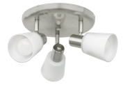 Eglo 89945A Gino Wall/Ceiling Light, Matte Nickel