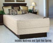 Continental Sleep Foam Encased Fully Assembled Eurotop 36cm Orthopaedic Mattress and Split Box Spring,Twin